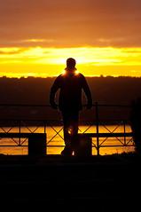 Nordnes sunset (Stian Eikeland) Tags: ocean sunset sun man norway gold warm flickr pentax bergen meet siluette nordnes k10d pentaxk10d justpentax da50135 flickrmeetbergen