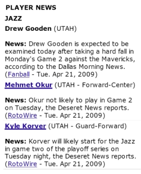 Gooden on the Jazz