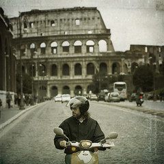 where's my woman? () Tags: italy rome roma andy sunglasses italia vespa andrea helmet scooter andrew colosseum coliseum handlebar moped sole casco 50mmf14 piaggio colosseo occhiali motorino viadeiforiimperiali benedetti manubrio nikond90