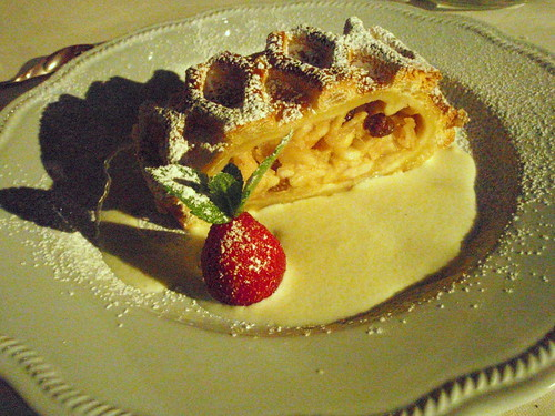 Apple Strudel in vanilla sauce - Restaurant Vela Nera, Pula