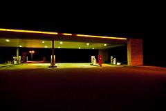 Kerouac (janbat) Tags: road red black green station yellow night jaune rouge nikon noir nobody vert tokina route essence autoroute d200 nuit f4 personne 1224 vide jbaudebert