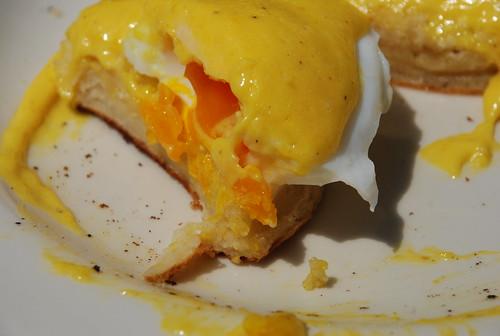eggs benedict (look at that beautiful orange yolk!)