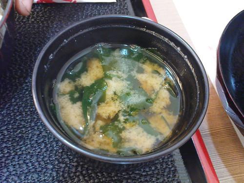 味增湯,這主餐沒附唷!要另外點!!