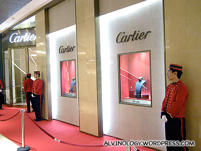 Cartier store - we saw lots of people buying stuff from here on the first day
