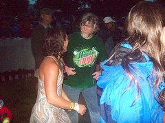 Dancing in the rain at RockyGrass 2009