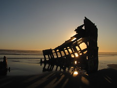 shipwreck the Peter Iredale, on the Oregon coast (~Patti~) Tags: ocean sunset beach shipwreck peteriredale