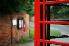 Communication Lets Me Down (*Evelina*) Tags: red village bokeh letterbox broughton phonebox hpad hpad090809