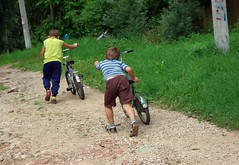 Tarusa kids (katunchik) Tags: boys bike kids russia region   chidhood kaluzhskiy