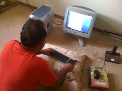 Pakistani neighbor using the PowerMac G4