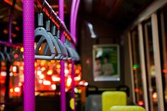 bus ride (ion-bogdan dumitrescu) Tags: pink red bus yellow night handle singapore ride shot traffic empty fuchsia jam handles bitzi summer09 ibdp mg6669 findgetty ibdpro wwwibdpro ionbogdandumitrescuphotography