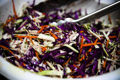 Rainbow Cabbage Slaw