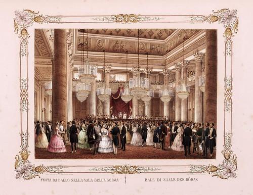 016- Baile en la sala de la Bolsa Trieste--- Ferdinando I e Maria Anna Carolina  nel litorale in settembre 1844