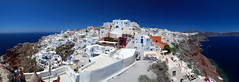 Oia - Santorini -  Greece - Panoramic view (Giuseppe Finocchiaro) Tags: travel sea panorama nikon mediterranean mediterraneo mare village santorini greece viaggi stitched oia cyclades cicladi villaggio