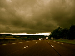 on the road (camillelisabeth) Tags: road cloud storm black route nuage menace orage noire