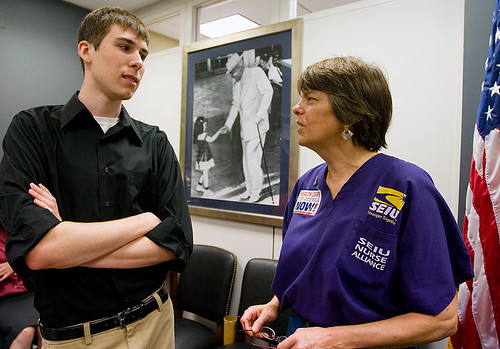 Jeff and Mary Beth Tinker, in Sen. McCaskills office. Jeff usually looks this awkward in real life.