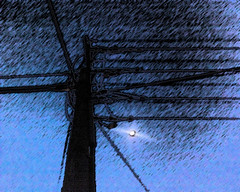Power the moon - sumi-e