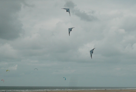 There were also some amazing synchronised kite flyers!