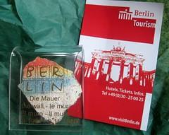 Berlin Wall piece sent from Berlin Tourism