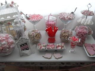 wedding candy buffet by Cotton and Crumbs