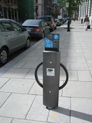 Bike hook up by parking metres