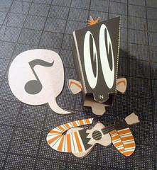 I ain't got nobody. (Custom Paper Toys) Tags: moon art paper monkey screenprint comic ukulele papertoy