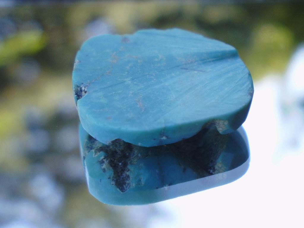 "Rough Turquoise Healing 3/4"" Round Slab"
