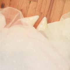 lost in her perfume (daisy plus three) Tags: texture me self weddingdress woodfloor weddingshoes bylesbrumes 5yearanniversaryonsaturday