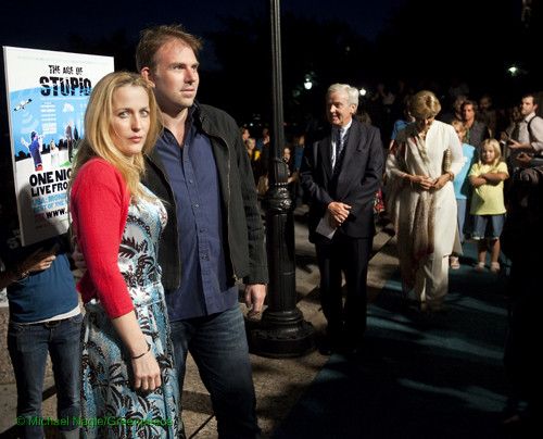 Actress Gillian Anderson and Director Mark Griffiths