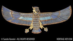 External Trappings of the Tutankhamun Mummy (Human-headed Bird Pectoral) (Sandro Vannini) Tags: bird archaeology museum death ancient king egypt cairo human soul ba tut tutankhamun egyptians pectoral kv62 heritagekey sandrovannini externaltrappings humanheadedbird