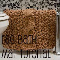 rag bath mat tutorial