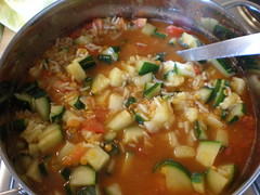 Kitchery (Katrin Gilger) Tags: food tomato pepper soup rice indian spice reis zucchini tomate suppe lentil indisch rotelinsen