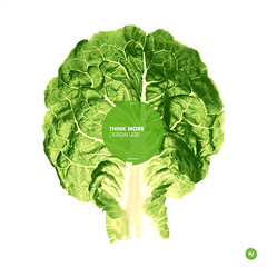 think more, design less. (grohsARTig // martin-grohs.com) Tags: stilllife green leave vegetables photoshop photo salad think creative manipulation brain simple showcase martingrohs wwwmartingrohscom thinkmoredesignless