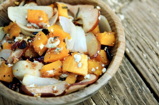 Roasted Butternut Squash, Pears and Onions with Blue Cheese | The ...