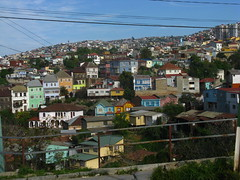 Coloured houses in Valparaiso
