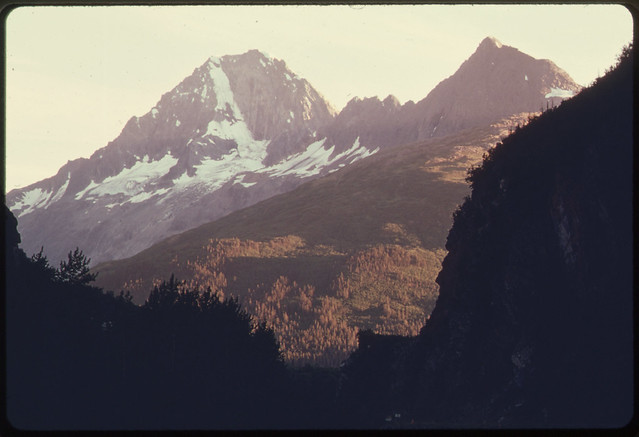 A Sunset View South through the South Portal of Keystone Canyon to Jpeak 5079081974 by The US National Archives