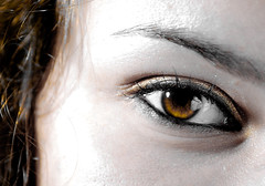 everything that shine ain't always gonna be gold. (josine.vervloet.photography) Tags: selfportrait macro eye photography gold cool picturesthatttellastory