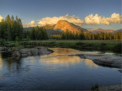 Sunset, Tuolumne River and Lembert Dome, Yosemite (SteveD.) Tags: mountains landscape sierra yosemitenationalpark sierranevada yosemitevalley highsierra lembertdome mountainlandscape usnationalpark tuolumneriver californialandscape tuolumnemeadow wildernesslandscape sierranevadalandscape stevedunleavy chucklepix stevedunleavycom stevedunleavyphotography