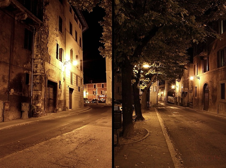 Spoleto in the night