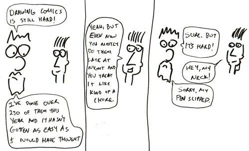 366 Cartoons - 253 - Comics are hard