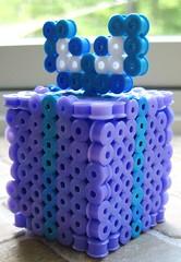 3-D Perler Bead Present (Kid's Birthday Parties) Tags: 3d gift present bead beading kidscraft beadcraft perlerbeadgift perlerbeadpresent 3dperlerbeadpresent 3dperlerbeadproject