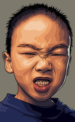 I Love Mason Face Art (Mel Marcelo) Tags: boy portrait smile sweater vectorart grafx adobeillustrator faceart spotcolors masonnguyen melmarcelo meltendo mpyregraphics melitomarcelo