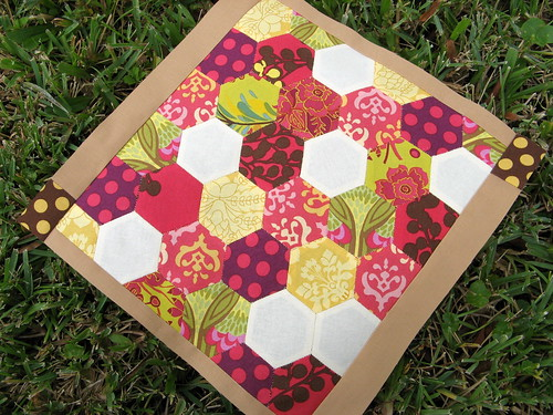 Hexagon block for November Bee Modern