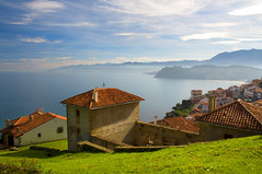 A village with a view (Ignacio Lizarraga) Tags: houses sea mountains mar village pueblo asturias casas lastres montaas zyber nikond90 goldstaraward vanagram