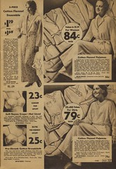 Sears catalogue 1935 cotton flannel pajamas