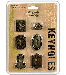 Antique finish metal keyholes