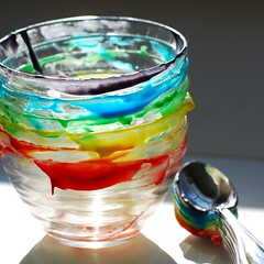 how to: rainbow cake! (a.meadowlark) Tags: cake baking rainbow weight weightwatchers frosting watchers rainbowcake omnomnom omnomicon
