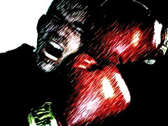 Aaarrrrggg! (Tomitheos) Tags: portrait judo toronto ontario canada me sports acdc self myself ouch fight flickr image avatar cartoon picture dramatic optical competition pic daily taekwondo photograph punching sos boxing fighting pow capture yelling now today yell 2009 kickboxing garon actionshot hitting mouthguard stockphotography ontariocanada dreamorreality sportsgear thehumancondition argg creativeselfportraits imacphotobooth aarrgg strengthtraining  feltlife extremeexpressions operasyndrome greatwalloffaces menfighting spectacularelite damncool spselfportrait loveyatoo  bytomitheos creattivit inthenameofthesecond tomlinardos namtaehi everlastredboxinggloves januaryjanvier intheboxingring painis painisweaknessleavingyourbody blackbeltkarate postprocessingimagery commercialqualitypic