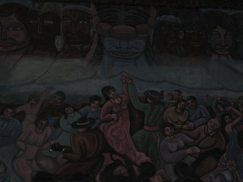 envy and rejoice (kittiegeiss) Tags: santafe mural thisislife tomasitas thewholewall itisdarkandlightatonce aretheythegodsorthedeceased whydoialwaysthinkofthehospitalwheniseethis imusthavemixeditintotheinsanityinmysleep
