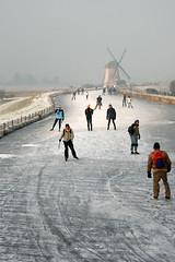 Schaatstafereel_Westland (Grietje Huitema) Tags: winter holland ice westland molen ijs schaatsen