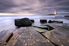 Whitley Bay (dan barron photography - landscape work) Tags: uk lighthouse st bay long exposure sigma explore northumberland marys 1022mm whitley d90